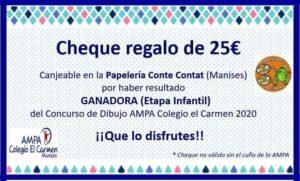 Cheque regalo covid 25€ Infantil