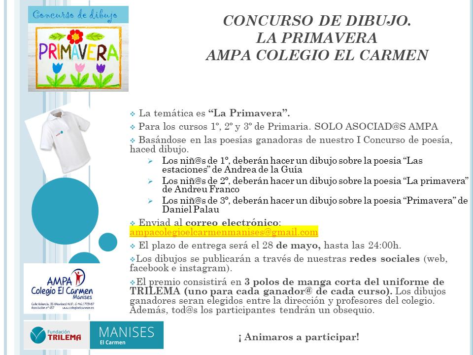 """Concurso de dibujo """"La Primavera"""" 2021 - Primaria"""